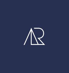 Cool and modern logo initials ar design vector