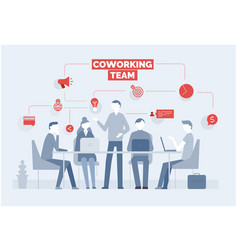 coworking business concept with young people vector image