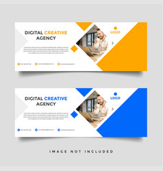 Creative business facebook cover template vector