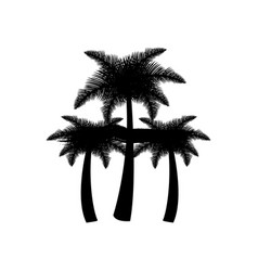 Dark contour palms icon vector