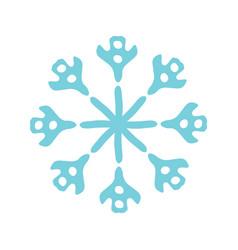 Design christmas snowflake icon vector