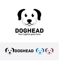 Dog head logo design vector