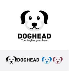 dog head logo design vector image