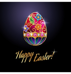 Easter egg red vector image