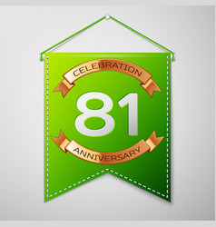 eighty one years anniversary celebration design vector image