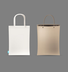 empty shopping bag couple vector image