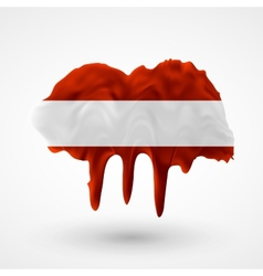 Flag of Austria painted colors vector