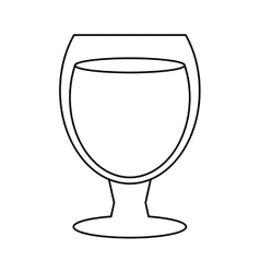 Glass cocktail cup design style outline vector