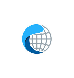 globe wave logo icon design vector image