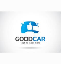 Good car logo template design emblem design vector