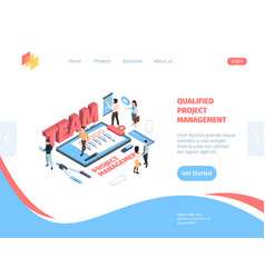 group management project isometric vector image