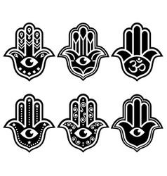 Hamsa hand simple geometric design vector