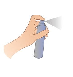 Hand Spraying vector