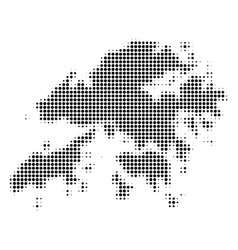 Hong kong map halftone icon vector