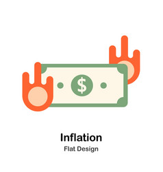 Inflation flat vector