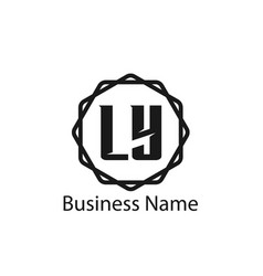 initial letter ly logo template design vector image