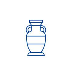 interior vase line icon concept interior vase vector image