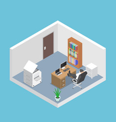 isometric businessman relaxing in office room vector image