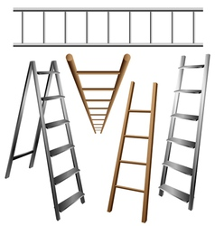 Ladder set vector image