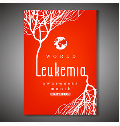 Leukemia awareness poster vector