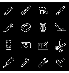 line art tool icon set vector image