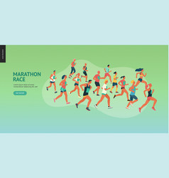 marathon race group vector image
