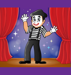 Mime theme image 2 vector