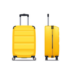 modern yellow plastic suitcase vector image