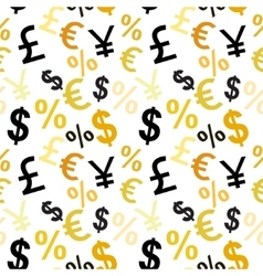 Money signs seamless pattern vector