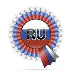 national flag badge RU vector image