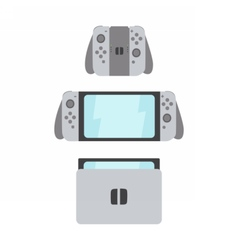 New portable gaming system with switching parts vector