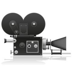 old movie camera 01 vector image