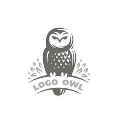 owl logo - emblem design vector image