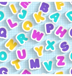 Paper ABC seamless Handmade font vector image