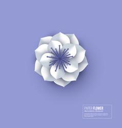 paper cut flower white color vector image