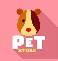 pet store animal logo flat style vector image