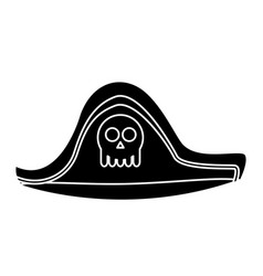 Pirate hat isolated vector
