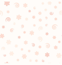rose pattern with flowers and spirals seamless vector image