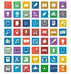 School icons flat design set vector image
