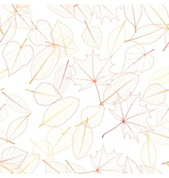 Seamless color leaves pattern plus EPS10 vector image vector image