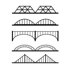 set of different bridges connection vector image