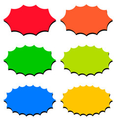 set speech bubble templates shape icons vector image