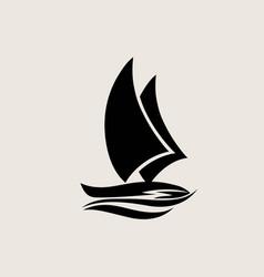 Ship logo silhouette vector