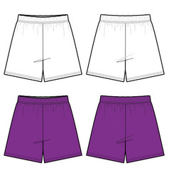 Short pants fashion flat sketch template vector