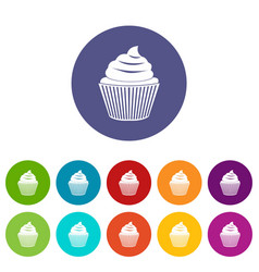 small candy icons set flat vector image