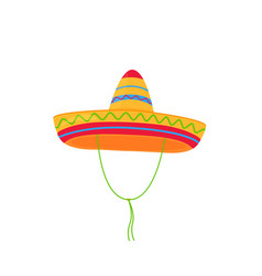 sombrero mexican hat isolated on white background vector image