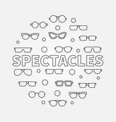 Spectacles round linear vector