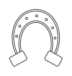 st patricks day horseshoe symbol thin line vector image