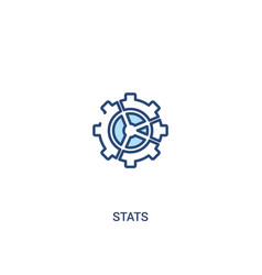 Stats concept 2 colored icon simple line element vector