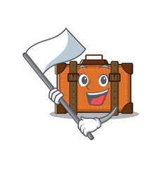 Suitcase with in cartoon bring flag shape vector